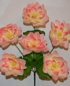 Искусственные цветы-Лотос атласный 6-ка R-500
