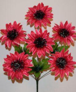 Искусственные цветы -Майор с черной срединой 6-ка R-387
