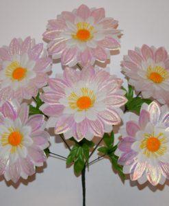 Искусственные цветы —Ромашка люрекс 6-ка R-684