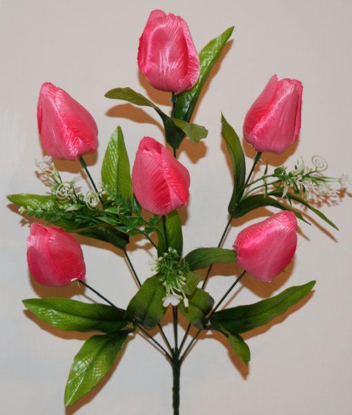 Искусственные цветы-Тюльпан 6-ка непрес R-591