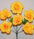 Искусственные цветы-Розочка расспущеная 6-ка непрес R-589