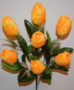 Искусственные цветы-Тюльпан 7-ка непресовка R-585
