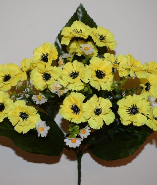 Искусственные цветы —Волошка цветная R-515