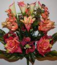 Искусственные цветы-Роза+лилия с азалией R-619