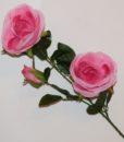 Искусственные цветы- Ветка Роза 3-ка B-68