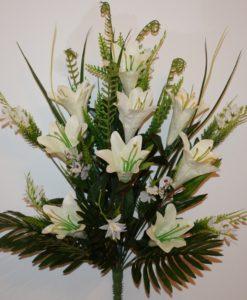 Искусственные цветы -Лилия натуральная с мимозой не прес R-753