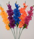 Искусственные цветы- Ветка Гладиолус-звездочка B-67