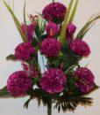 Искусственные цветы -Шар хризантема с калами непрес R-622