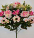 Искусственные цветы-Пион+лилия с мимозой R-617