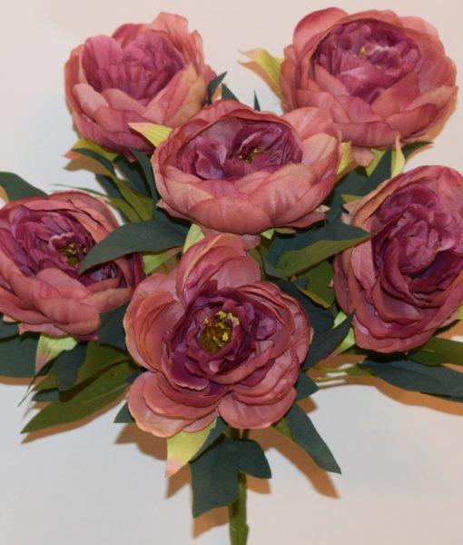 Искусственные цветы-Пион люкс 6-ка непрес R-637