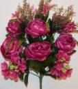 Искусственные цветы-Пион люкс с гортензией непрес R-651