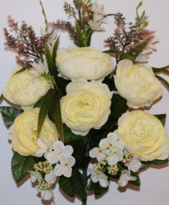 Искусственные цветы-Пион люкс с гортензией непрес R-863