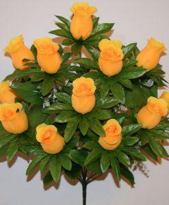 Искусственные цветы-Роза бутон с пластмасками 12-ка R-642