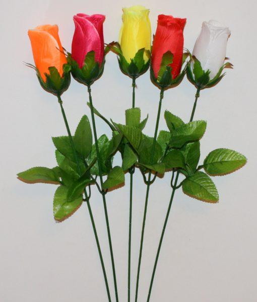 Искусственные цветы- Ветка Бутон атласный (в коробке) B-69