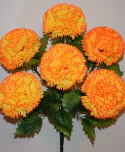 Искусственные цветы-Шар-гвоздика крупный 6-ка R-493