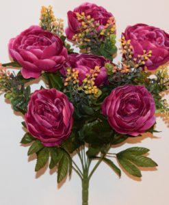 Искусственные цветы —Пион люкс большой с мимозой непрес R-835