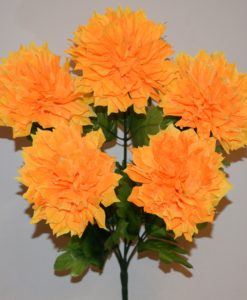 Искусственные цветы-Астра хризантема 5-ка R-674