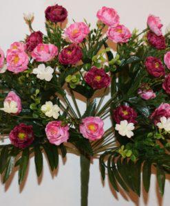 Искусственный цветок -Розочка букетик непрес R-678