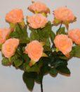 Искусственный цветок -Роза камелия 9-ка R-676