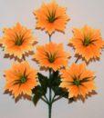 Искусственные цветы-Звездочка с зеленью 6-ка R-672