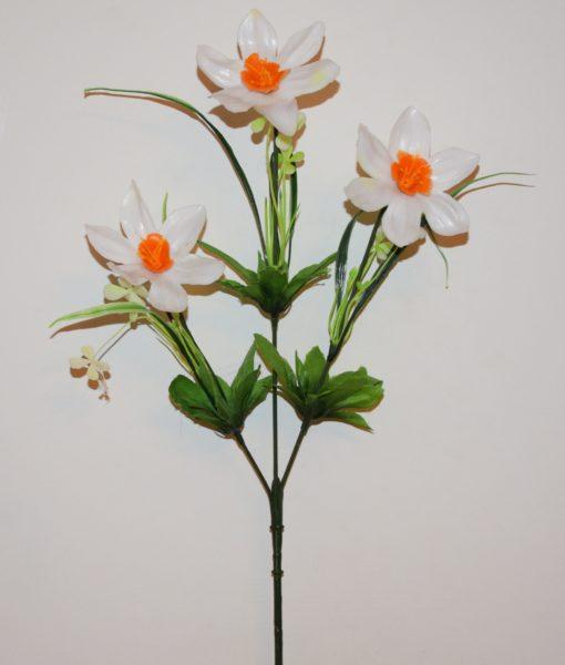 Искусственные цветы- Ветка Нарцис 3-ка B-50