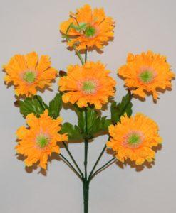 Искусственные цветы-Маргаритка с пластмасками 6-ка R-643