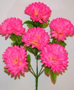 Искусственные цветы-Шар хризантема 6-ка R-680