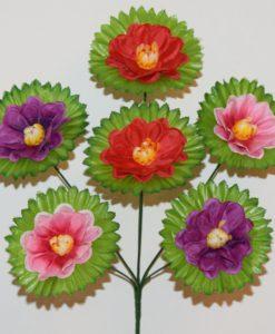 Искусственные цветы-Калинка микс лист 6-ка R-700