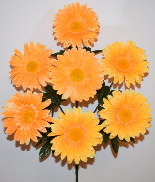 Искусственные цветы-Ромашка цветная 7-ка непрес R-703