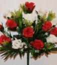 Искусственные цветы-Роза бутон микс с пластмасками непресовка R-705