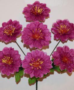 Искусственный цветок -Георгинка с присыпкой 7-ка R-2