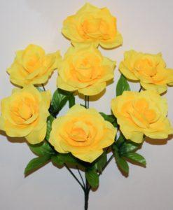 Искусственные цветы-Роза открытая 7-ка R-709