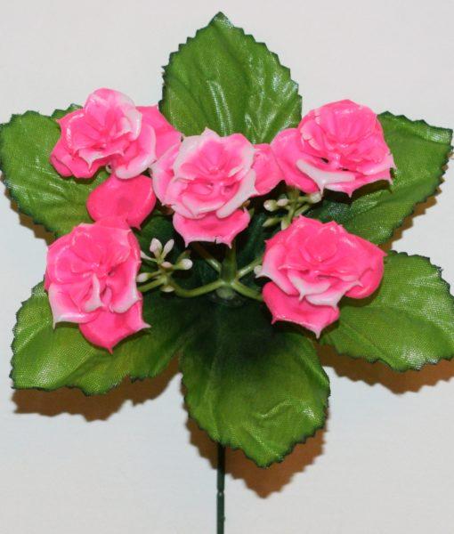 Искусственные цветы-Заливка роза пластмасовая 5-ка Z-72