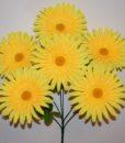 Искусственные цветы —Ромашка цветная атлас крупная 6-ка R-699