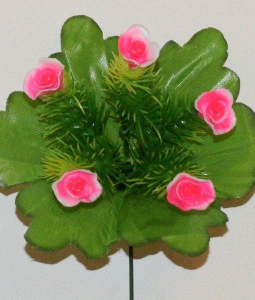 Искусственные цветы-заливка Розочка пластмасовая 5-ка Z-76