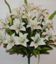 Искусственные цветы-Лилия люкс белая R-626
