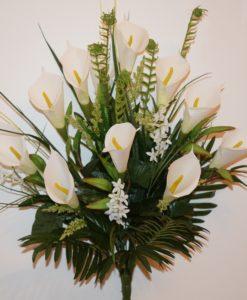 Искусственные цветы -Кала натуральная белая непресовка R-688