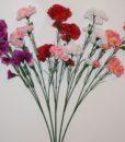 Искусственные цветы- Ветка Гвоздика атласна 3-ка B-71