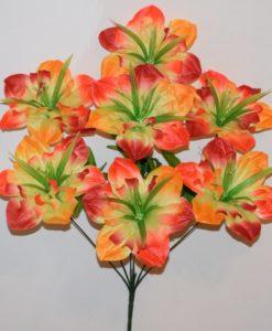 Искусственные цветы-Нарцис радуга 7-ка R-704
