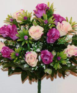 Искусственные цветы-Роза бутон микс с пластмасками непрес R-705
