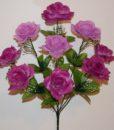 Искусственный цветок -Роза открытая с кашкой 9-ка не прес R-713