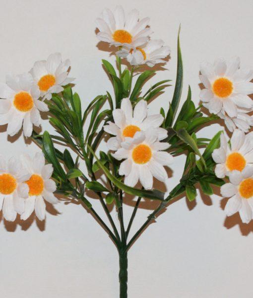 Искусственные цветы-Ромашка с пластмасками букетик R-727