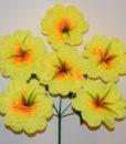 Искусственные цветы-Мальва атлас с травкой 6-ка R-716