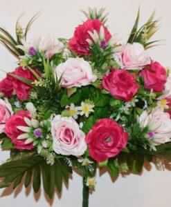 Искусственные цветы-Роза открытая с пластмасовыми добавками R-728