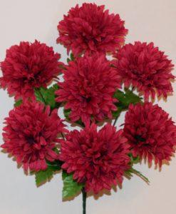 Искусственные цветы-Шар хризантема 7-ка R-723
