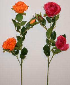 Искусственные цветы- Ветка Роза люкс 3-ка B-79