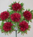 Искусственные цветы-Калинка с пальмовым листом 6-ка R-722