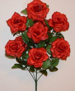 Искусственные цветы-Роза гигант 9-ка непрес R-724