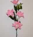 Искусственные цветы- Ветка Лилия атлас 4-ка B-75