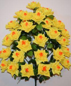 Искусственные цветы-Роза атлас 36 голов непрес R-732